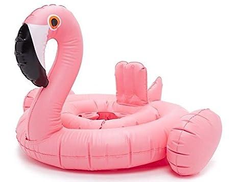 Goodid Flodador Flamenco con asiento Flotador Colchoneta para niños bebé- Rosa: Amazon.es: Juguetes y juegos