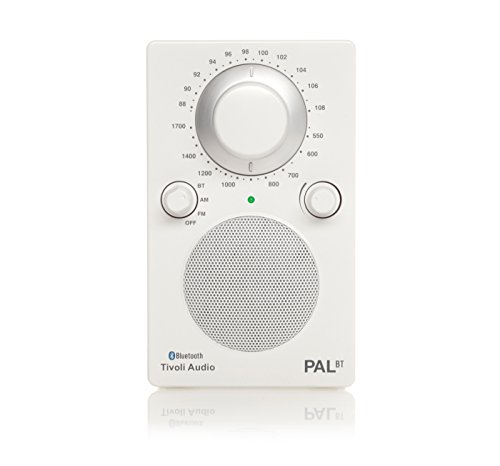Tivoli Audio PALBTGW PAL BT Bluetooth Portable AM/FM Radio (High Gloss White/White)