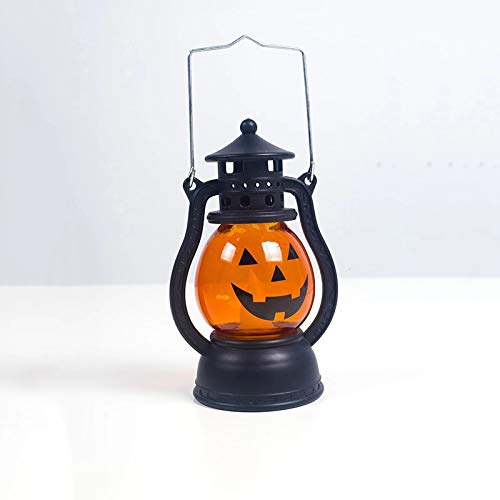 Ray punk Gifts Halloween Decoration LED Hanging Jack Pumpkin Lantern Pumpkin Lantern Suitable for Indoor Outdoor Home Terrace and Workbench, Kids Toys, Halloween Out Decoration (Orange black8) (Decoration Terrace)