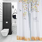 Der Thickening Opaque Waterproof Mildew Polyester Bathroom Shower Curtain Increase Lead Metal Ball Ring Lead Bathroom Accessories (Color : C, Size : 180cm220cm)