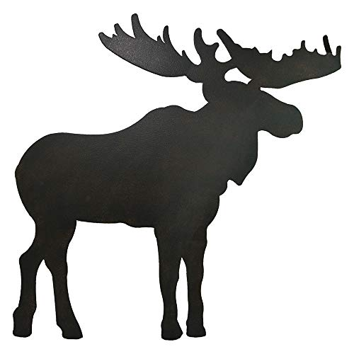 AR Country Store Metal Moose Silhouette Wall Art - Large Size - Moose Metal Wall