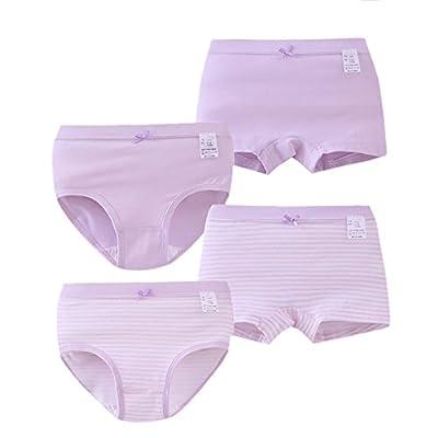 Zegoo Girls Tagless Briefs Underwear Cotton Super Soft Briefs 4 Pack