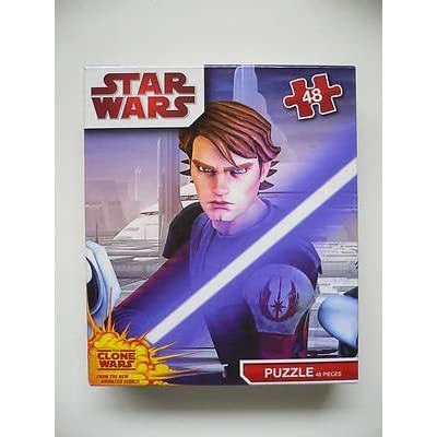 Star Wars Clone Wars 48 Piece Puzzle (Designs Vary): Toys & Games