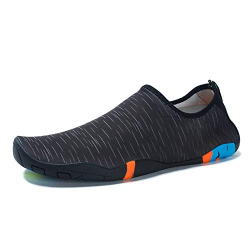 Sneaker Drying Summer Da Scarpe Outdoor Di Upstream Uomo Scarico White Quick Spiaggia Water And Con Foro Black UOwEqE