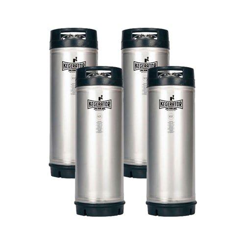 Kegerator 5GRUBKEG-4PK 5 Gallon Ball Lock Keg NSF Rubber Handle (4)