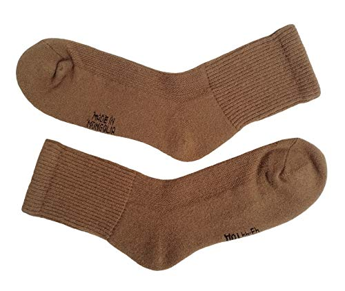 (Very warm soft 70% Camel Wool Winter Mens Socks, 1 pair. Made in Mongolia. (43-44(XL)))