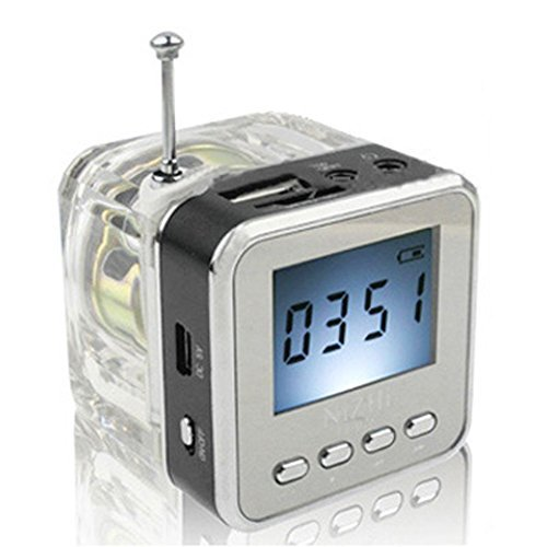 Haoponer Portable Mini Digital Display Screen Speaker USB Flash Drive Micro SD/TF Card Music MP3 Player FM Radio Black