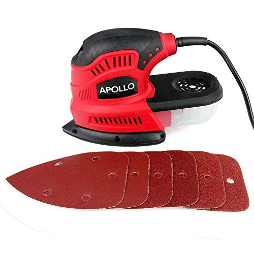 Hi-Spec 180W Palm Detail Mouse Sander Power Tool With Dust Collector & 6...