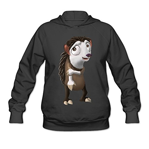 (ShowTime Ice Louis Hedgehog Age Women's Comfort Hooded Black XL)