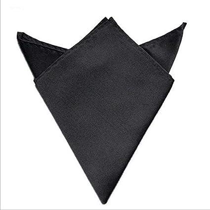 CaiZhao Pañuelo de pañuelo de bolsillo de poliéster satinado para Fiesta, boda, negocios para