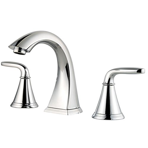 widespread bathroom faucet in chrome