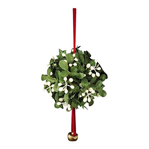 Mistletoe Ornament (Kurt Adler Mistletoe Ball Christmas Ornament)