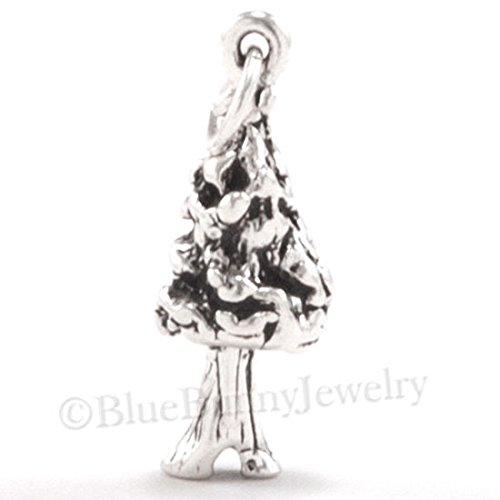 REDWOOD SEQUOIA TREE Charm California Forest .925 Sterling Silver Pendant 3D 925 Jewelry Making Supply Pendant Bracelet DIY Crafting by Wholesale Charms