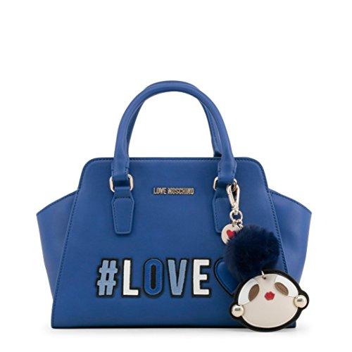 Love Moschino Borsa Pu - Carteras de mano con asa Mujer Azul (Blu)