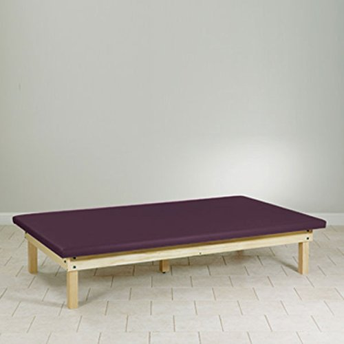 Upholstered top Mat Platform Treatment Table Wood frame 4 x 7 - Platform Mat Upholstered