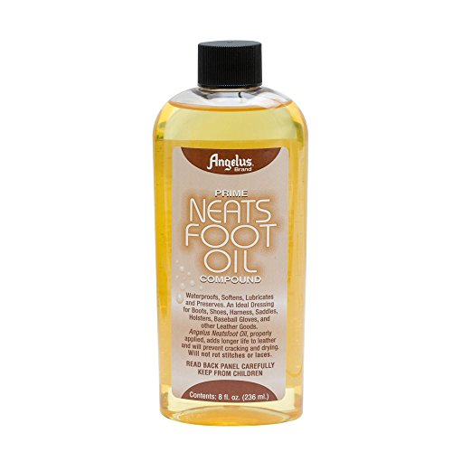 Angelus Brand Prime Neatsfoot Oil Compound Shoes Boots Leather Waterproof Softener Protector Conditioner 8 oz ()