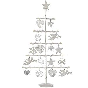 werchristmas metal christmas tree lamp with 21 led lights decoration 2 feet60 cm warm white - Metal Christmas Tree