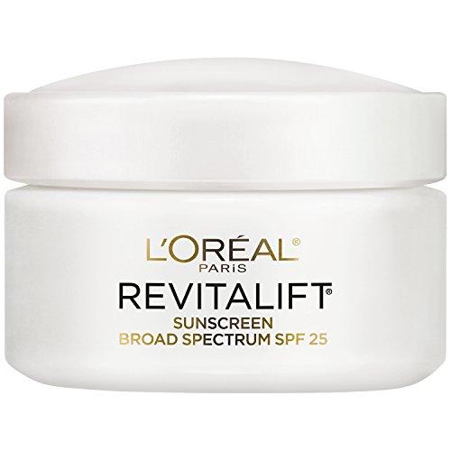 L'Oréal Paris Skincare Revitalift Face Moisturizer with Broad Spectrum SPF 25, Anti-Aging Moisturizer with Pro-Retinol and Centella Asiatica, Paraben Free, Suitable for Sensitive Skin 1.7 oz