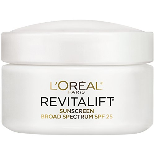L'Oréal Paris Skincare Revitalift Face Moisturizer with Broad Spectrum SPF 25, Anti-Aging Moisturizer with Pro-Retinol and Centella Asiatica, Paraben Free, Suitable for Sensitive Skin 1.7 oz