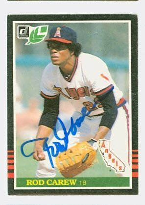 Rod Carew AUTOGRAPH 1985 Donruss #85 Minnesota Twins LEAF Rod Carew Minnesota Twins
