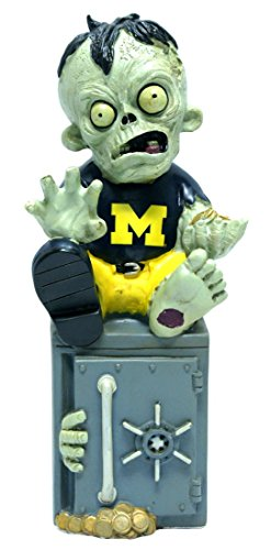 Forever Collectibles Michigan Wolverines Zombie Figure - Bank ()