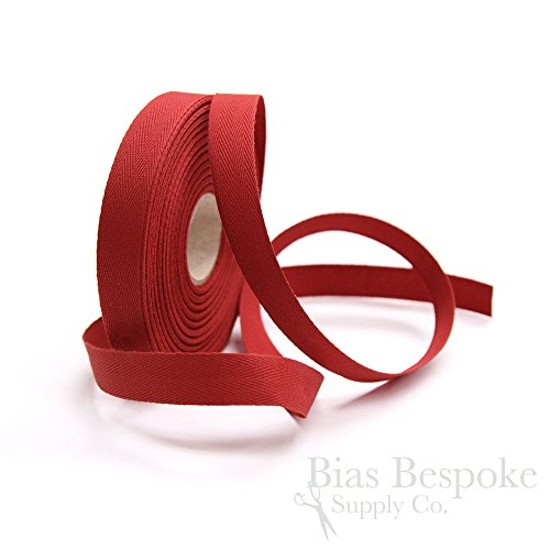 (20 Meter Roll of Tango Red 100% Italian Cotton Twill Kick Tape)