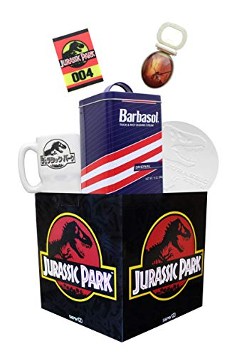 Jurassic Park Looksee Gift Box | Includes 5 Official Jurassic Park Collectibles | Perfect For Jurassic Park Fans | Packaged In A Square 7.75-Inch Gift Box