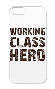 Scratch-resistant Art Design Graffiti Yellow Working Class Hero For Iphone 5c Protective Hard Case