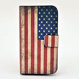 GX 20150511 Patrón de la bandera EE.UU. Vintage pu estuche de cuero con cierre magnético y la ranura para tarjeta para Samsung Galaxy S3 I8190 mini-