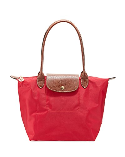 Longchamp Le Pliage Medium Tote Shoulder Bag (Red Garance)