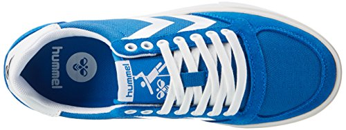 Hummel Unisex-Erwachsene Slimmer Stadil Waxed Canvas Lo-Top Low Blau (IMPERIAL Blue)