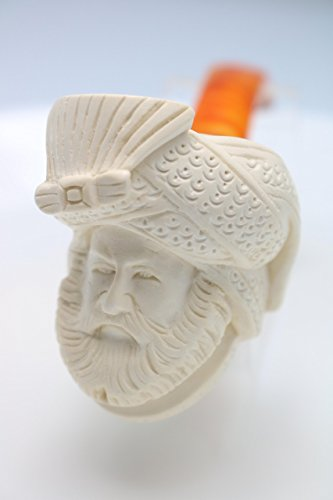 White Turkish Meerschaum Smoking Pipe Handcrafted, Unique Design by Handmade Studio