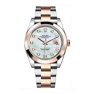 Best Epic Trends 41RemGONQxL._SS300_ Rolex Datejust 41 Mother of Pearl Dial Men's Watch 126301