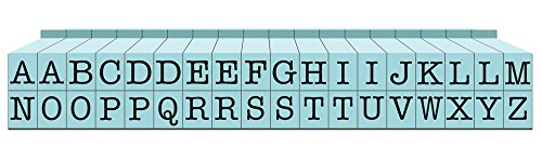 Contact USA Upper Alpha Small 36ct Pegz Upperase Alphabet Stamp Set, Pool Blue ()