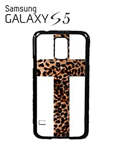 Leopard Cross Religion Mobile Cell Phone Case Samsung Galaxy S5 White by supermalls