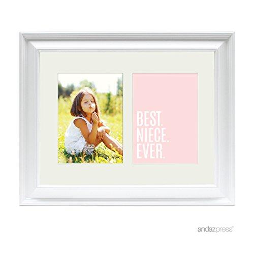 Andaz Press Double White 5x7-inch Photo Frame, Best Niece Ev