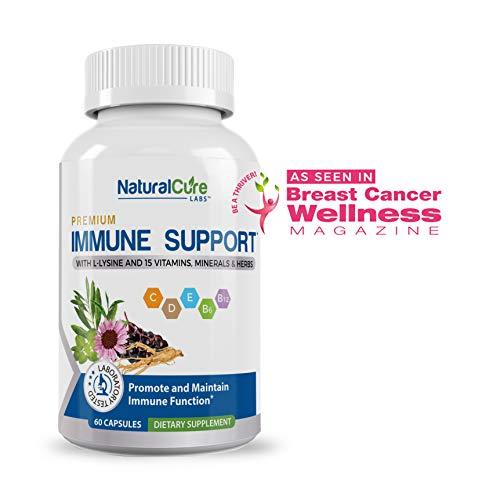 Premium Immune Support. #1 Researched Natural Antiviral, Antibacterial Formula 60 Count