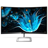 Philips 278E9QJAB 27' Curved Frameless Monitor, Full HD 1080P, 128% sRGB & 102% NTSC, FreeSync, HDMI/DisplayPort/VGA, Speakers, VESA
