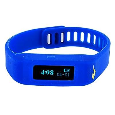 Everlast TR1 Blue Wireless Sleep/ Fitness Activity Tracker Watch with LED Display
