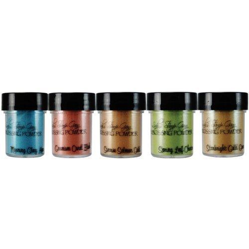 Lindy's Stamp Gang Mermaid Seashells Embossing Powder Set