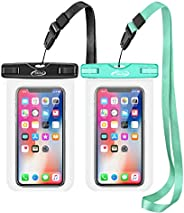 AiRunTech Waterproof Case, 2Pack IPX8 Waterproof Phone Pouch, Dustproof Dry Bag for iPhone XS/XS Max/XR/X/8/8