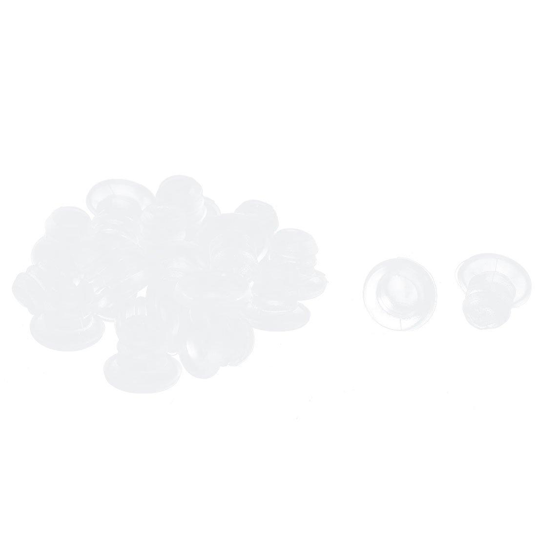 Insert du Tube en plastique bouchon d'obturation de tuyaux embout rond Transparent 5 mm-Lot de 20 Sourcingmap a15060600ux0111
