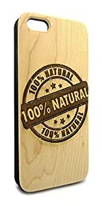 Genuine Maple Wood Organic 100% Natural Sign Snap-On Cover Hard Case for iPhone 5C by lolosakes