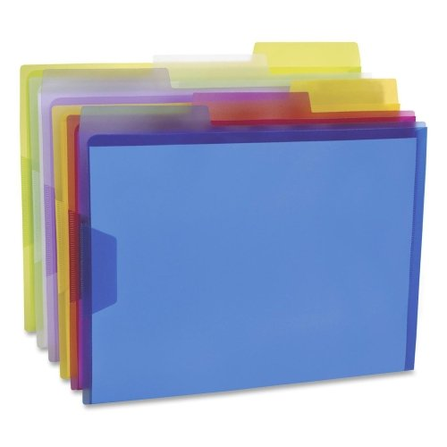 Esselte 52565 View Folder, 1/3 Cut Tabs, Letter, 6/PK, Assorted by Pendaflex ESS52565