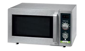 Winco EMW-1000SD Spectrum Commercial Microwave, Dial Stainless Steel, 1,000 W