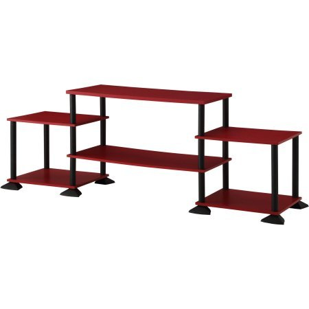 Mainstays No-Tool Assembly 3-Cube Entertainment Center for TVs up to 40 ,Red