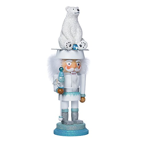 Kurt Adler 17-Inch Hollywood Polar Bear Nutcracker Polar Bear Wood