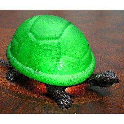 WAREHOUSE OF TIFFANY 18006GR Warehouse of Tiffany Green Turtle Accent Lamp