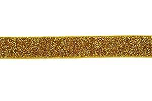 Trimweaver 5/8-Inch Glitter Fold Over Elastic for Craft, 5-Yard, Gold