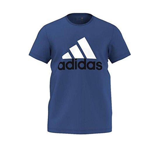 adidas Herren T-shirt Essentials Big Logo, Blau/Weiß, L, 561955224